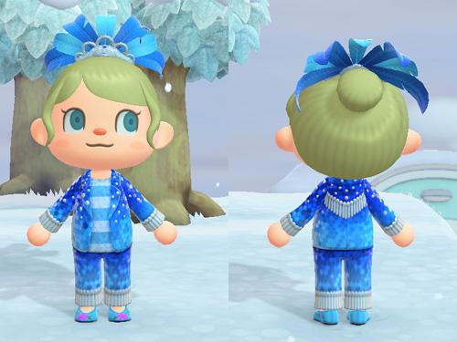 あつまれどうぶつの森 あつ森 カーニバルなコスチューム ブルー バカンス ステージ パーティー 青 ブルー
