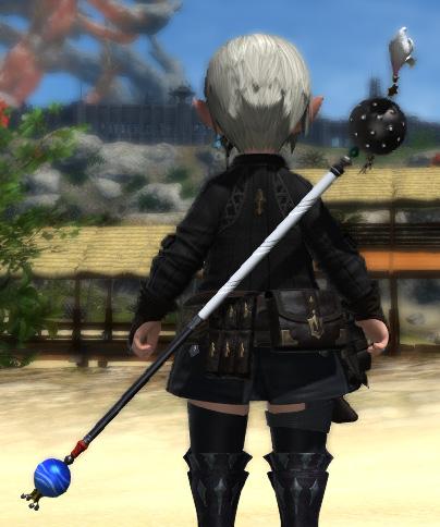 FF14 ミラプリ ハードシルバースタッフ 黒魔道士 ララフェル 個性的 杖
