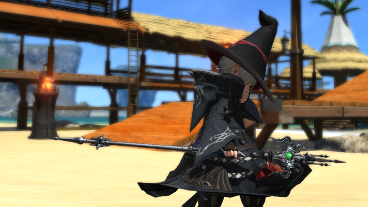 FF14 ミラプリ 黒魔道士 マーシャルロッド かっこいい 杖 ララフェル