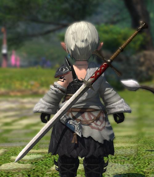 FF14 ミラプリ 暗黒騎士 スコフュニング ソームアル シンプル 両手剣
