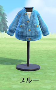 あつまれどうぶつの森 あつ森 ケミカルデニムジャケット アウトドア デイリー 青 ブルー