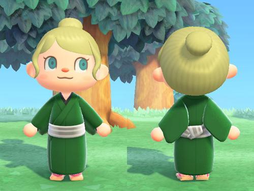 あつまれどうぶつの森 あつ森 きながし 着流し 着物 デイリー みどり 緑