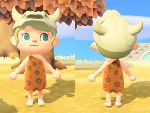 あつまれどうぶつの森 あつ森 げんしじんなふく 原始人な服 オレンジ アウトドア