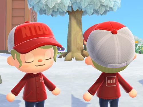 あつまれどうぶつの森 あつ森 スポーツ アウトドア デイリー メッシュキャップ 帽子 赤 レッド