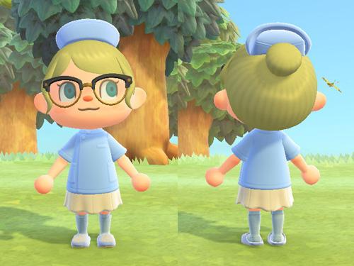 あつまれどうぶつの森 あつ森 かんごしのジャケット 看護師のジャケット お仕事 ブルー 青