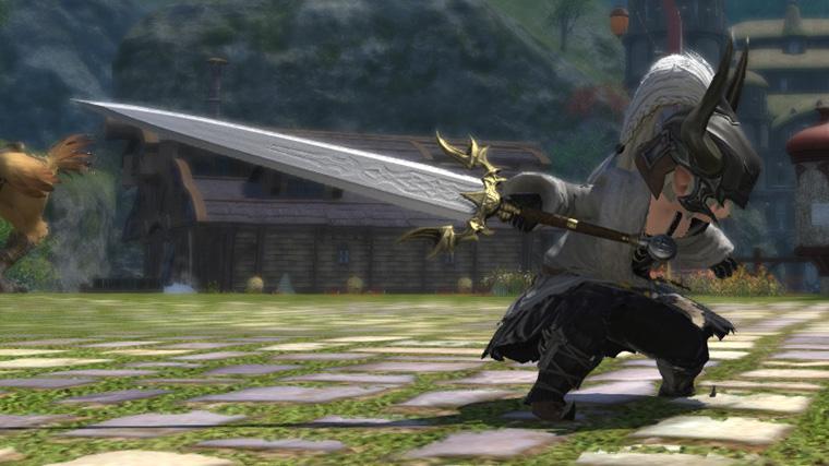 FF14 ミラプリ ララフェル チタンクレイモア 暗黒騎士 シンプル 両手剣