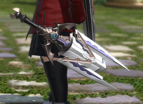 FF14 ララフェル ナイト 変形 片手剣 かっこいい チタンロングソード 見た目