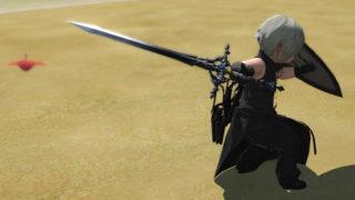 FF14 ミラプリ ララフェル ナイト 魔剣 呪い ティルヴィング 片手剣 ドラゴンズエアリー カッコイイ 黒い