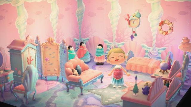 あつまれどうぶつの森 あつ森 人魚 マーメイドシリーズ 家具