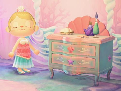 あつまれどうぶつの森 あつ森 人魚 マーメイドなチェスト 家具