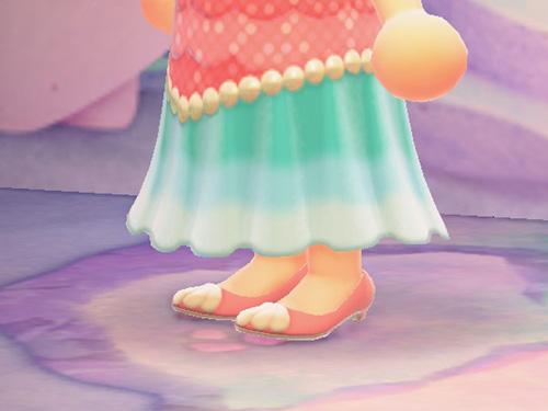 あつまれどうぶつの森 あつ森 マーメイドなくつ マーメイドな靴 ピンク