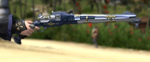 FF14 ミラプリ ララフェル クライヤーズカービン カッターズクライ 機工士 銃 紺 白 かっこいい
