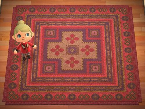 あつまれどうぶつの森 あつ森 あかいキリムのカーペット 赤いキリムのカーペット