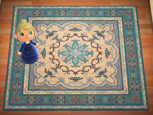 あつまれどうぶつの森 あつ森 ローラン 青いペルシャ絨毯 あおいペルシャじゅうたん