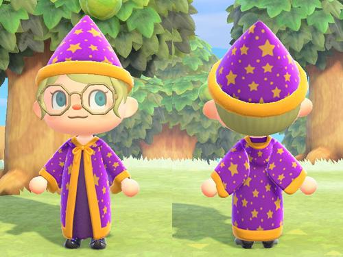あつまれどうぶつの森 あつ森 まじゅつしのローブ 魔術師のローブ パーティ メルヘン 紫 パープル