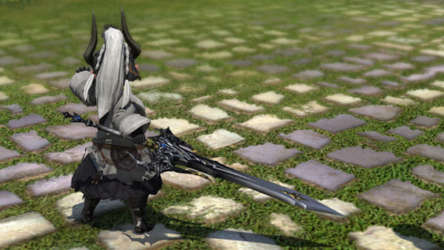 FF14 ミラプリ ララフェル ダインスレイフ ドラゴンズエアリー 暗黒騎士 両手剣 かっこいい