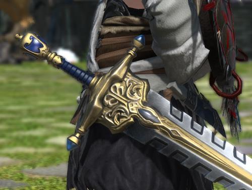 FF14 ララフェル ナイト インクイジターソード ミラプリ 片手剣 かっこいい イシュガルド教皇庁