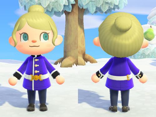 あつまれどうぶつの森 あつ森 へいたいのふく 兵隊の服 お仕事 メルヘン フォーマル ブルー 青