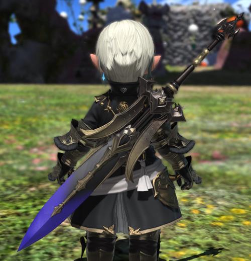 FF14 ミラプリ チタングレートソード ララフェル 伸びる 青い 両手剣 かっこいい
