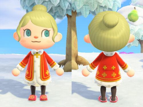あつまれどうぶつの森 あつ森 おうさまのふく 王様の服 パーティ メルヘン ステージ 赤